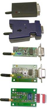 BlueSerial Bluetooth Adapter sowie OEM-Einbauversion mit Lochbefestigung. Weitere Versionen auch zur Platinenmontage verfügbar.